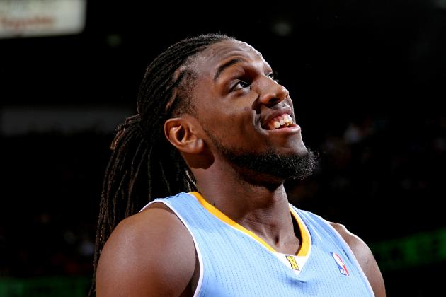 Kenneth Faried durante un partido de los Denver Nuggets