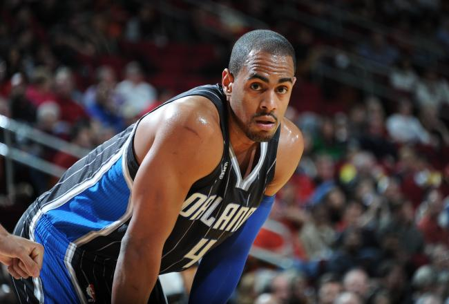 Arron Afflalo durante un partido de los Orlando Magic
